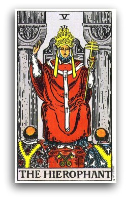 Image result for the hierophant tarot