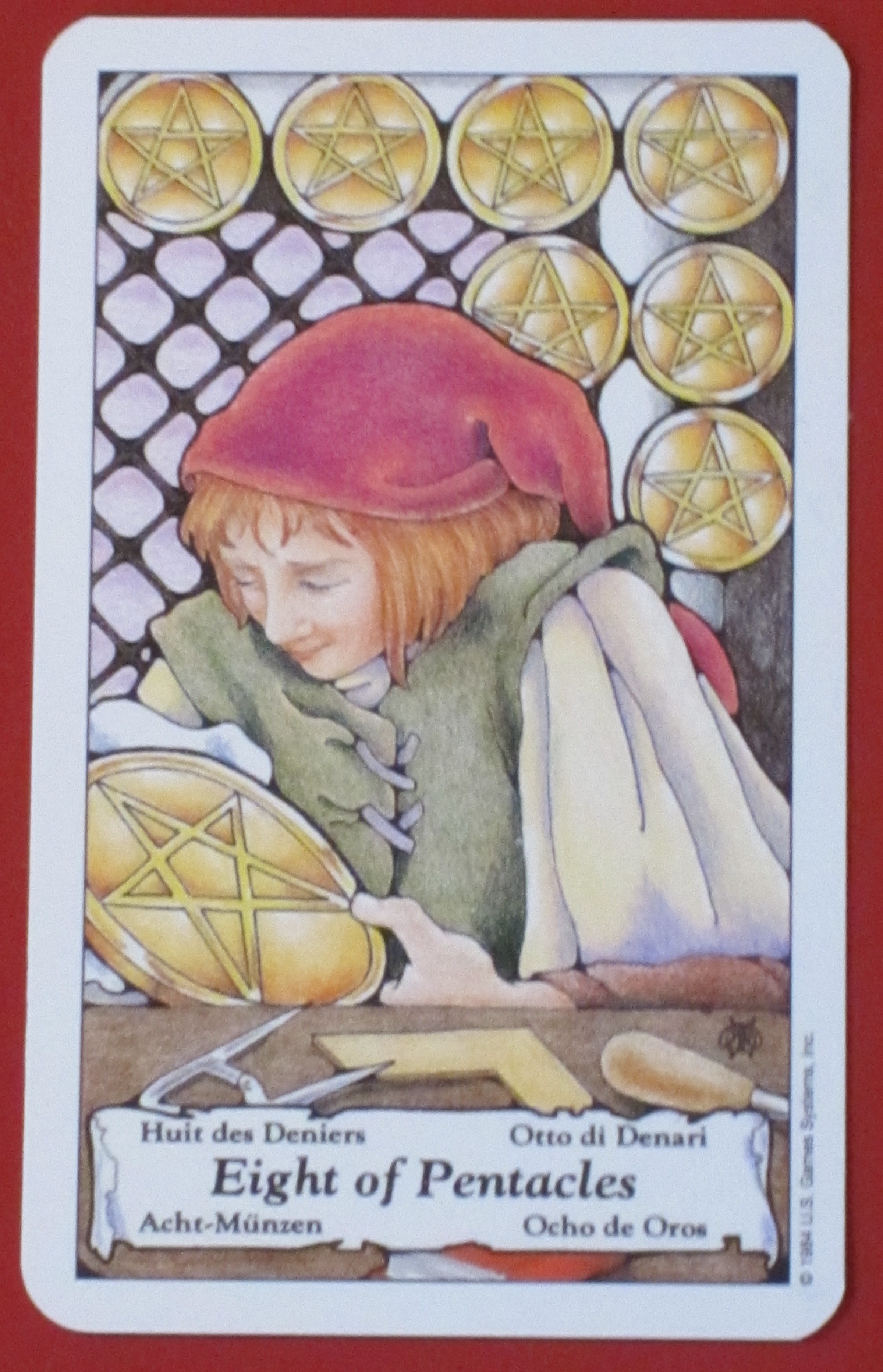 8 of pentacles reversed:relationship reaction:help! - Aeclectic